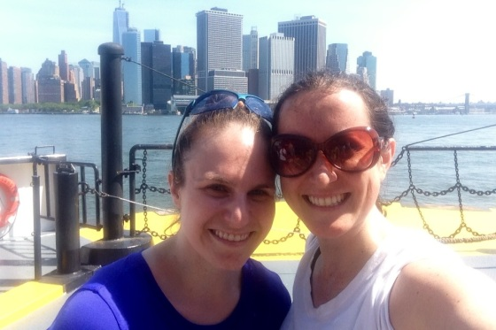 All smiles after the 2013 Get Out On Governor's Island (GOGI) 10K 6/23/13
